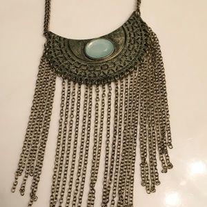 Jewelry - Brand new BOHO necklace with blue stone inset